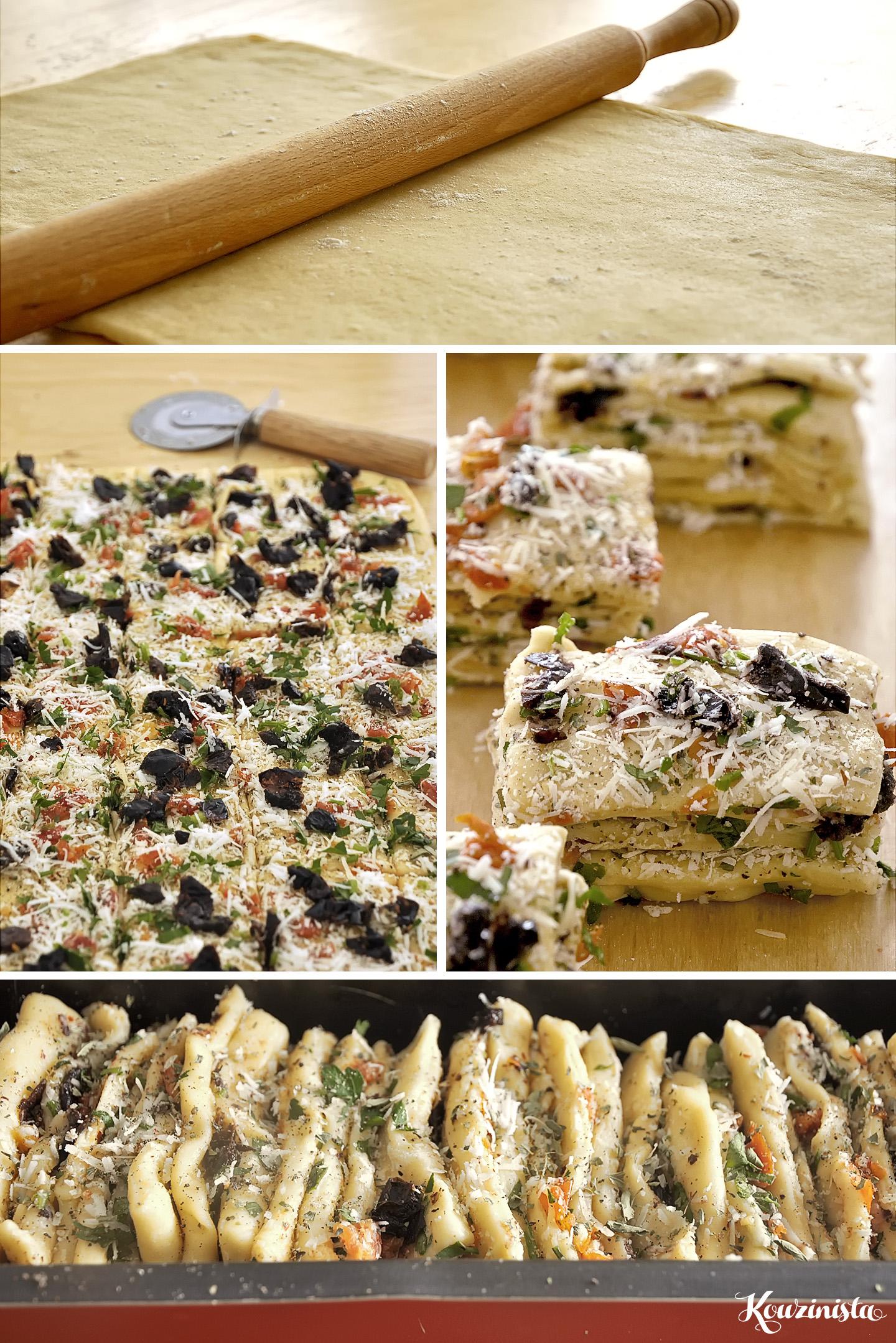 Ψωμί ακορντεόν με σκόρδο και παρμεζάνα / Garlic Parmesan Pull-Apart Bread