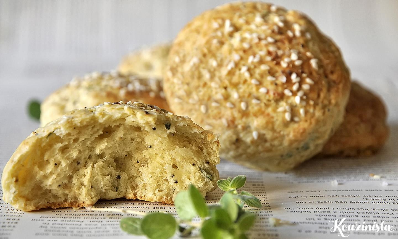 Αγγλικά «ψωμάκια» με γραβιέρα / Cheese scones with Greek graviera