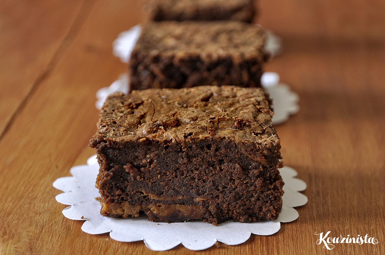 Μπράουνις με καραμέλα γάλακτος / Dulce de leche brownies