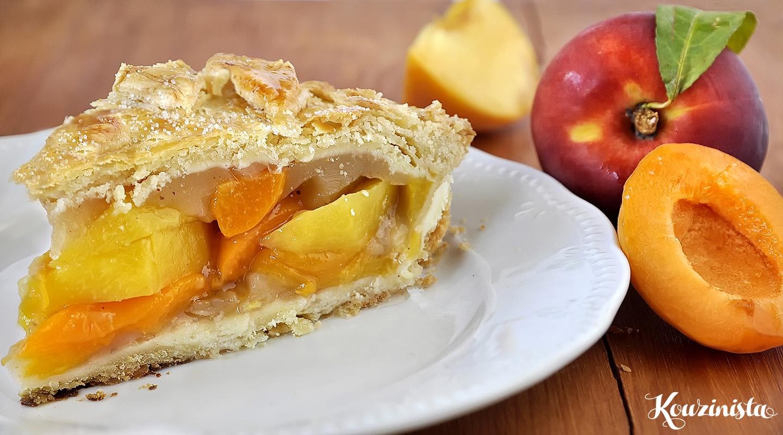 Γλυκόξινη τάρτα με ροδάκινα και βερίκοκα / Mixed Stone Fruit Pie