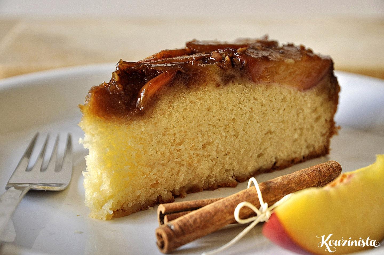 Ανάποδο κέικ με νεκταρίνια / Upside-Down Peach Cake