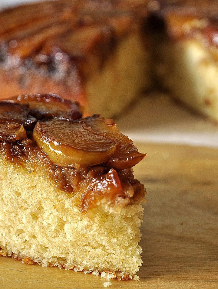 Ανάποδο κέικ με νεκταρίνια