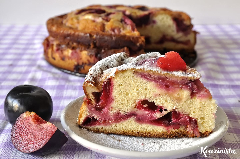 Γερμανικό κέικ με βανίλιες ή δαμάσκηνα / Plum cake