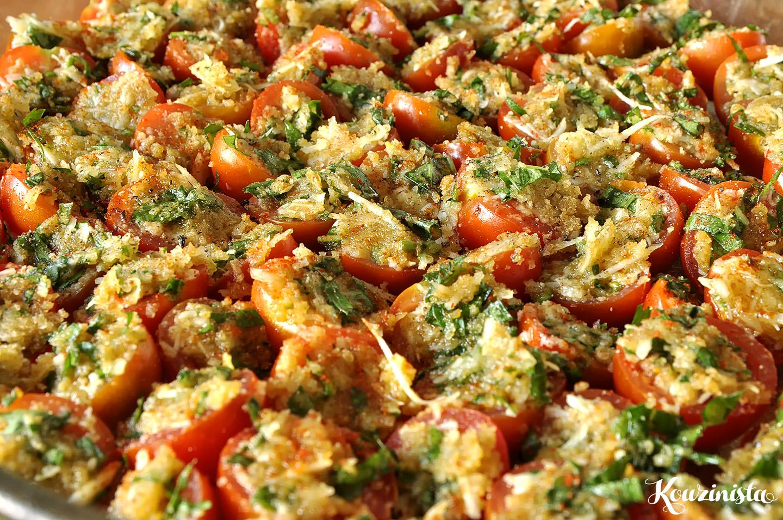 Ζυμαρικά με ψητά ντοματίνια & βασιλικό / Spaghetti with roasted cherry tomatoes and fresh herbs