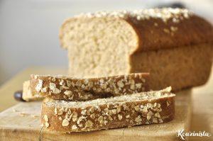 Ψωμί με νιφάδες βρώμης και ελαιόλαδο / Soft honey oat bread