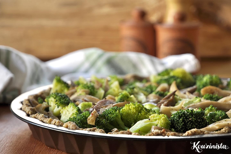 Τάρτα με μπρόκολο και μανιτάρια / Broccoli Mushroom Tart