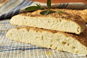Λαγάνα χωρίς ζύμωμα / No knead lagana bread