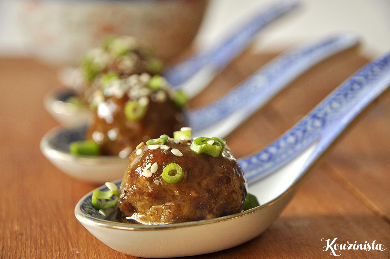 Ζουμερά κεφτεδάκια με γλυκόξινη σάλτσα / Sweet & sour meatballs