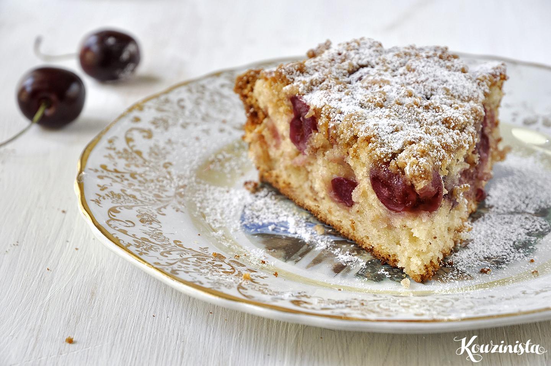 Γρήγορο κέικ με κεράσια / Fresh cherry cake