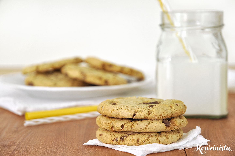 Cookies με ελαιόλαδο και σοκολάτα / Olive oil chocolate chip cookies