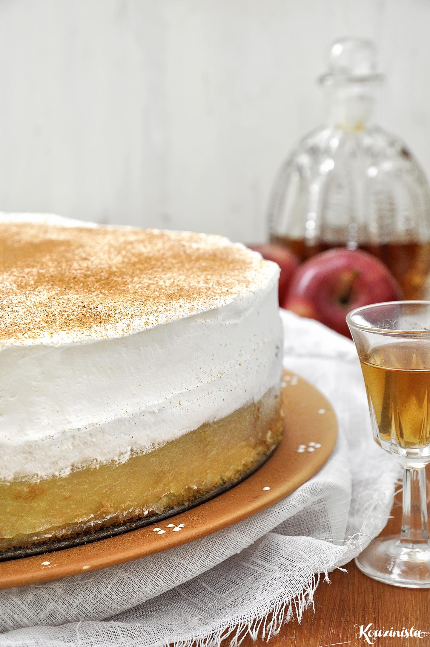 Δροσερή τούρτα με μήλα ή ροδάκινα / Apple pudding cake