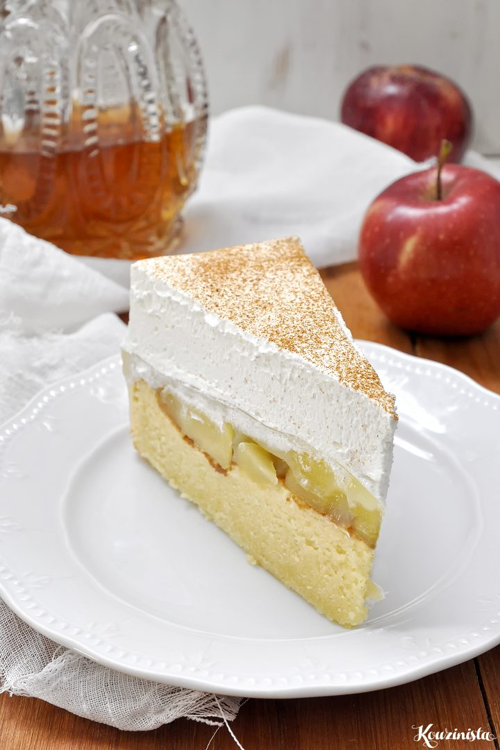 Δροσερή τούρτα με μήλα