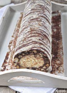 Δίχρωμο μωσαϊκό με λευκή & μαύρη σοκολάτα / White and dark chocolate fridge cake
