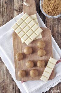 Τρουφάκια λευκής σοκολάτας με κολοκύθα & μπισκότα πιπερόριζας / Pumpkin ginger thin truffles