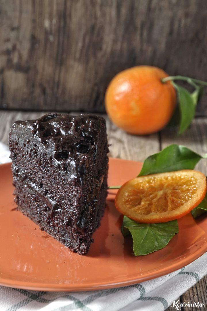 Νηστίσιμη τούρτα σοκολάτας με αβοκάντο & πορτοκάλι / Vegan chocolate-orange avocado cake
