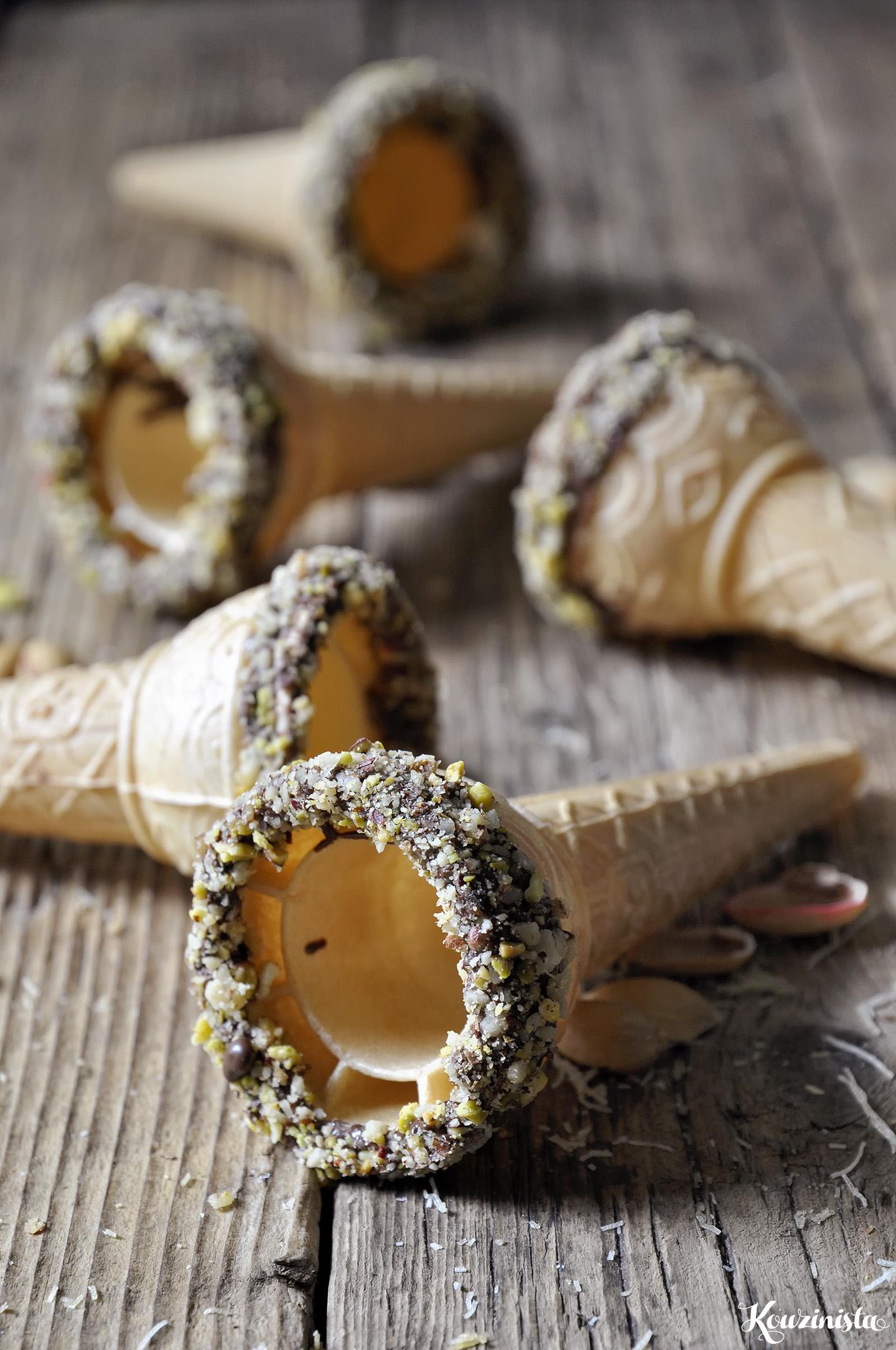 Παγωτό κανταΐφι (χωρίς παγωτομηχανή) / No-churn kataifi ice cream