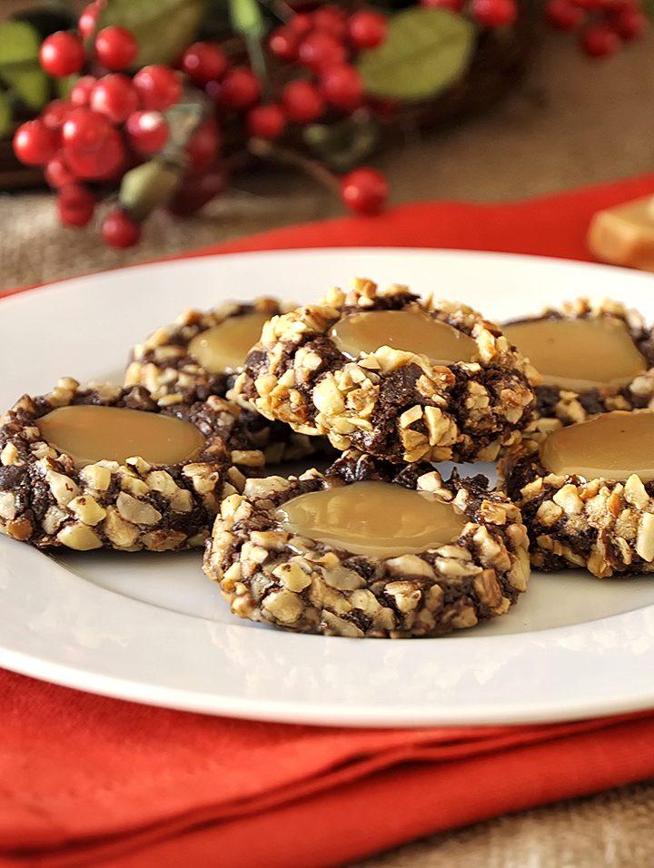 Σοκολατένια cookies με καραμέλες γάλακτος