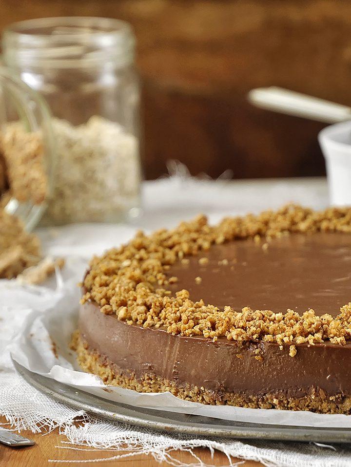 Τούρτα σοκολάτας με γιαούρτι και δημητριακά
