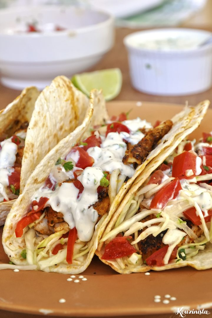 Tacos με ψάρι σε κρούστα μπαχαρικών